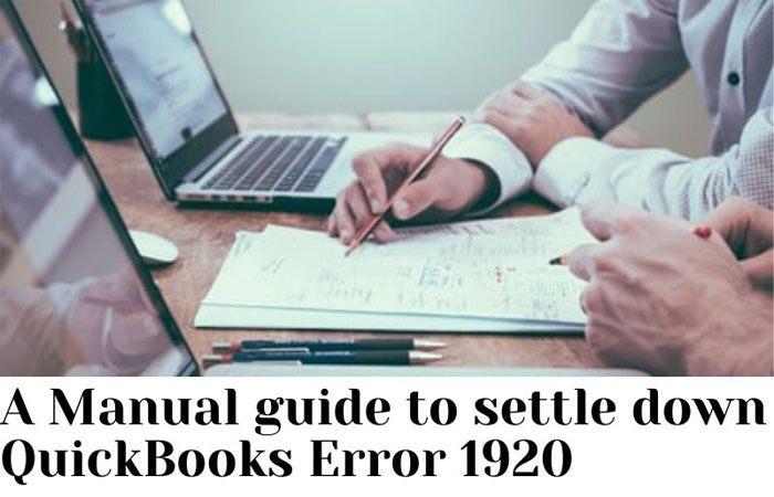 settle down QuickBooks Error 1920