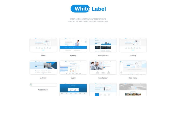 White Label Web Templates