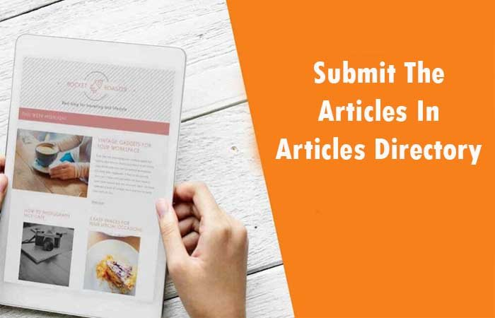 Submit The Articles In Articles Directory